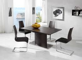 Minimalist Dining Room Stunning Modern Minimalist Dining Room With Curvy Black Stools