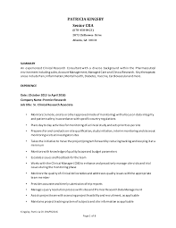 Clinical Research Associate Job Description Resume by Pkingsby Cv 19apr2016
