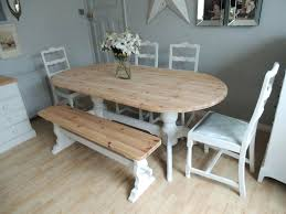 six seater dining table shabby chic pine for 8 people 4 chairs and