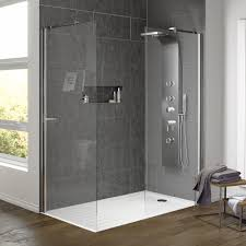 Shower Tray And Door by Aurora Walk In Shower Enclosure With Side Panel U0026 Tray Available Now
