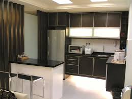 kitchen setting ideas modern kitchen for small apartment with black countertop and white