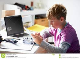 boy playing video game in bedroom stock photo image 31861650