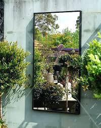 wall mirror diy optical illusion garden mirror outdoor garden