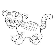 un tigre en coloriage à imprimer magicmaman com
