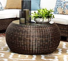 Pottery Barn Wicker Best Rattan Round Coffee Table Torrey All Weather Wicker Round