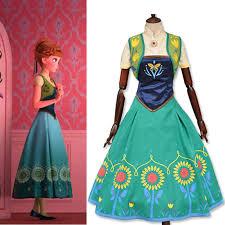 Anna Elsa Halloween Costumes Aliexpress Buy Halloween Costume Women Princess Anna