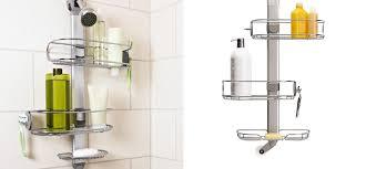 amazing bathroom accessories freestanding corner shower caddy
