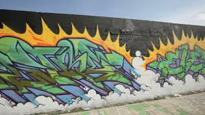 miami florida december 18 graffiti on a wall at the miami art