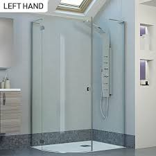 moods reflexion 8 1300 frameless hinged shower door with inline