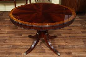 54 Inch Round Dining Table With Leaf 48 Round Dining Table With Leaf Round Mahogany Dining Table