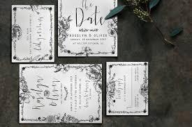 elegant flower wedding package invitation templates creative