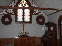 decorating a country chapel for christmas seasons of farm grove