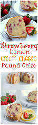strawberry lemon cream cheese pound cake video noble pig
