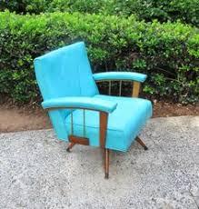 Turquoise Lounge Chair Danish Modern Eames Era Molded Bent Plywood Turquoise Lounge Chair