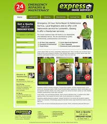 web design from home website design for express home services
