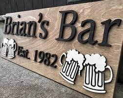 custom bar sign etsy
