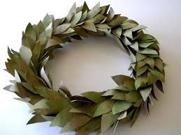 bay leaf wreath inkling brown bag wreath faux bay leaves bay leaves brown bags