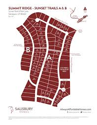 Utah County Plat Maps by Summit Ridge Sunset Trails Utah Home Builders Hub