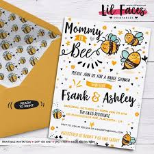 to bee baby shower to bee baby shower invitation