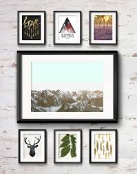 frame game cozy rustic vibe for a cabin gallery wall
