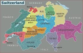 Us Regions Map Large Detailed Regions Map Of Switzerland Switzerland Large