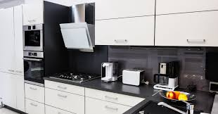 kitchen design white cabinets black appliances white cabinets with black countertops 12 inspiring designs