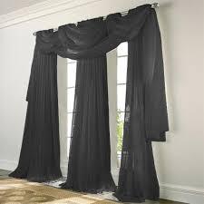 Black Sheer Curtains Elegance Voile Black Sheer Curtain Bedbathhome