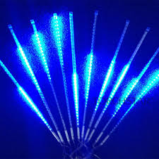 led meteor shower tube lights set of 10 12v blue led meteor shower lights torchstar