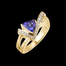 7mm diamond 7mm tanzanite and diamond ring