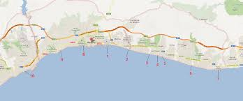 Andalucia Spain Map by Top 10 Beaches In Marbella