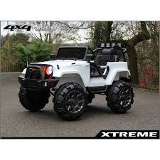 white jeeps xtreme 12v ride on suv jeep in white with open doors xtreme toys