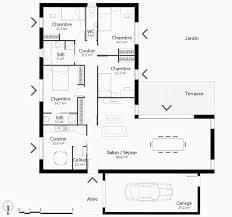 modele maison plain pied 3 chambres plan maison plain pied 3 chambres élégant plan de maison avec 4