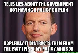 Internet Lies Meme - tells lies about the government not having a policy or plan