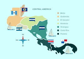 World Map Central America by Central America Map With Flag Vector Illustration Download Free