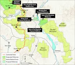 Lewis And Clark Map Lewis U0026 Clark Wildlands Montana Wilderness Association