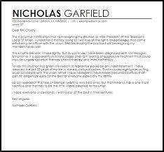 union resignation letter resignation letters livecareer