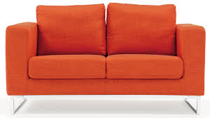 Modern Outdoor Loveseat Modern Orange Fabric Upholstered 2 Piece Sofa Set With Stainless