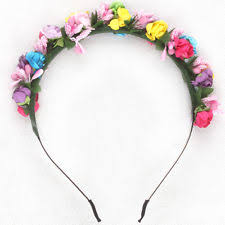 flower bands festival travel headband flower crown wedding garland hair band