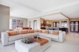 modern minimalist design of the beach house floor plan that has
