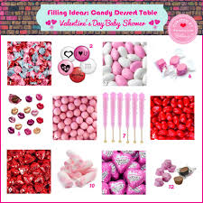 how to set up a valentine u0027s candy table for a sweet baby shower