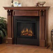 mahogany electric fireplaces fireplaces the home depot
