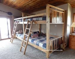 bradley s furniture etc rustic log and barnwood bunk beds western plains barnwood bunk bed back to back custom sizes avail starting at 2399 made by hand in utah add drawers or trundle for 800