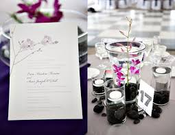 hello centerpieces purple orchid centerpieces purple wedding invitations hello lucky