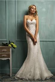 beaded wedding dresses mermaid strapless sweetheart tulle lace beaded wedding dress
