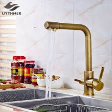solid brass kitchen faucet aliexpress buy uythner solid brass kitchen faucet mixer tap