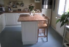 image ilot de cuisine ilot central avec plan de travail en hêtre de laboutiquedubois com