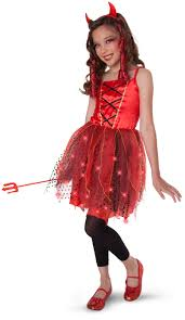 Dazzling Devil Light Up Child Tween Costume Buycostumes Com