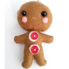 0 00 gingerbread man christmas decoration by twolittlemonkeys on