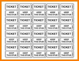 7 free printable ticket template artist resumes
