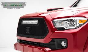tacoma grill light bar toyota tacoma stealth torch grille insert w 1 20 led light all